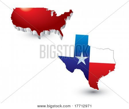 lonestar state under red united states icon