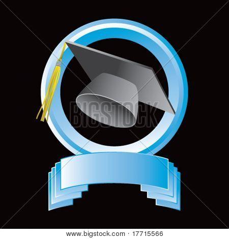 tapa de graduación azul redondo pantalla