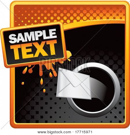 shooting email orange and black halftone grungy ad