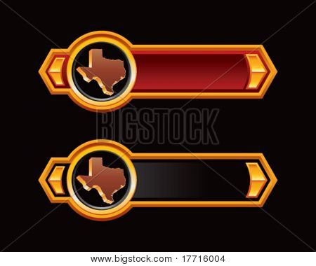 texas state on red and black arrows