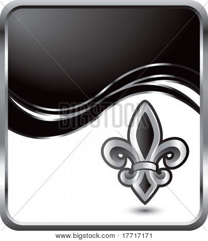fleur de lis black wave background