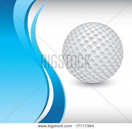golf ball vertical blue wave background