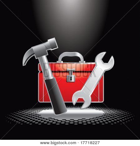 toolbox under spotlight