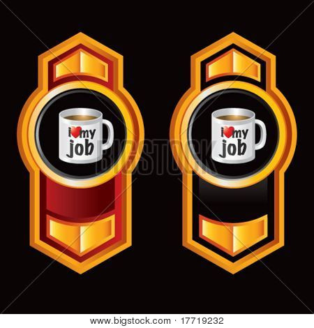 coffee cup red and black orange vertical arrows