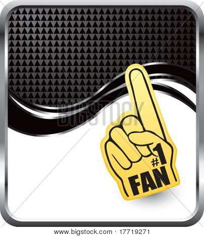 fan hand black checkered wave backdrop