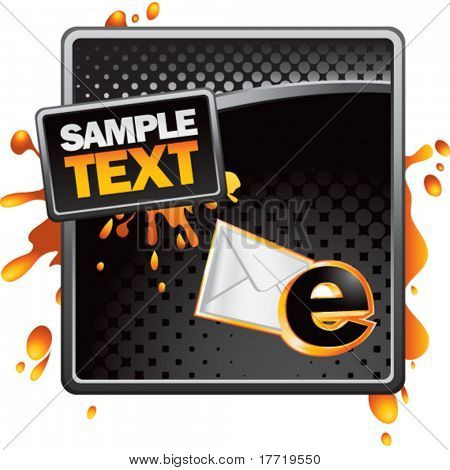 email letter black halftone grungy template