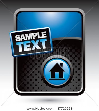 home icon blue stylized advertisement