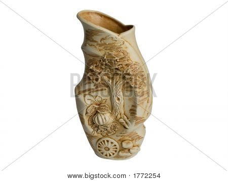 Vase On A White Background