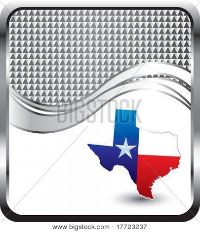 texas icon silver checkered wave background