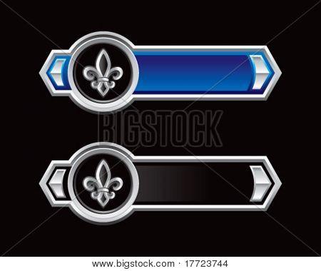 fleur de lis blue and black arrows