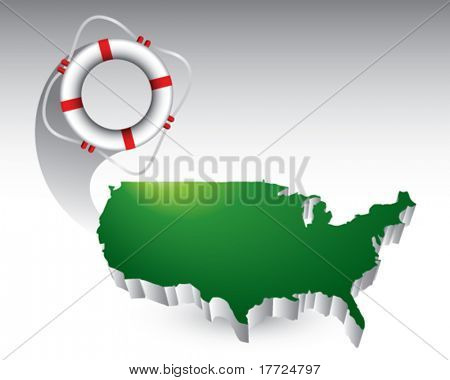 life ring green united states icon