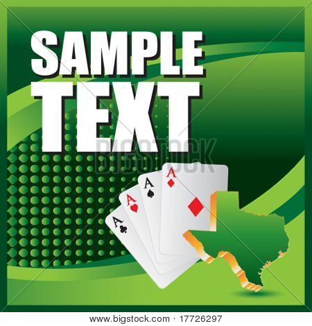 texas hold em green template