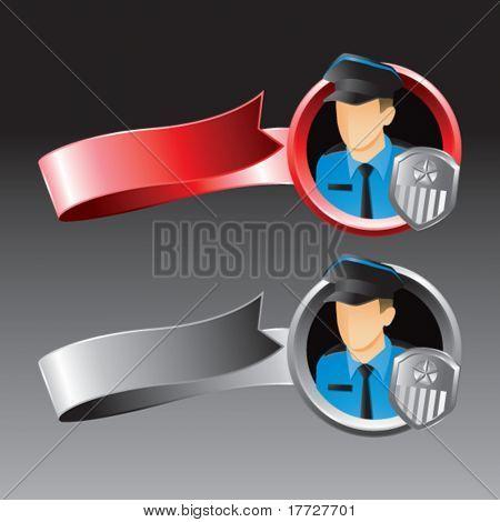 fitas de vermelho e cinza de policial