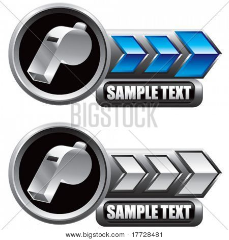 whistle blue and white arrow nameplates