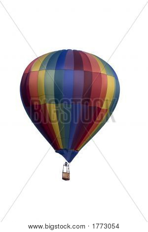Hot Air Balloon Isolated On A White Backround