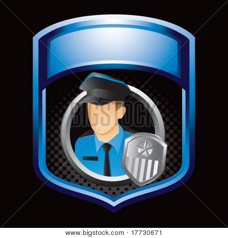 police officer blue shiny display