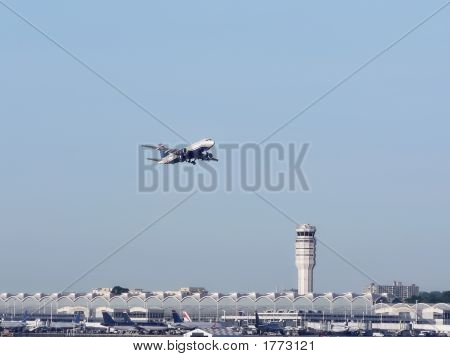 Jet Plane In Flight - Take Off 3