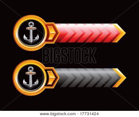 anchor symbol red and black arrows