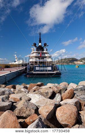 Yacht In St. Maarten, Caribbean