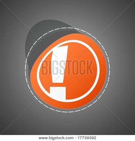 Vector attention sticker. Vector illustration (eps10).