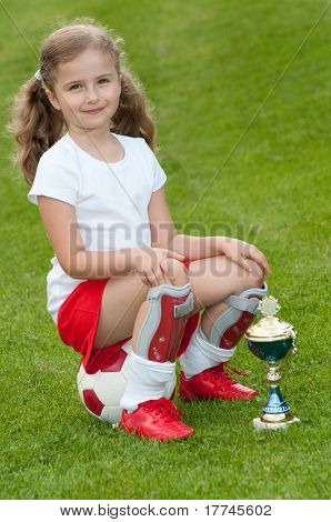 Soccer champion - cute soccer player