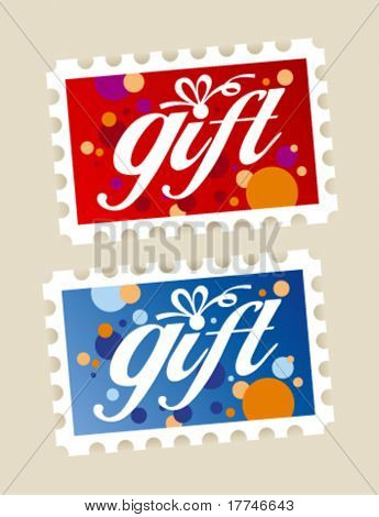 Gift postage stamps stickers.