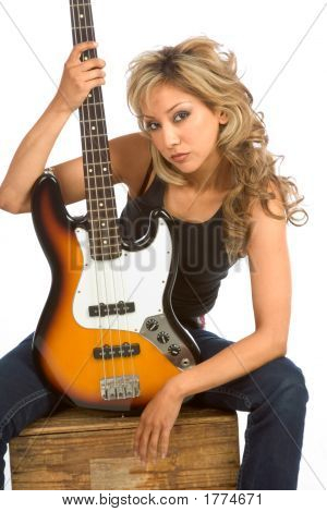 Portrait Of Guitar Girl