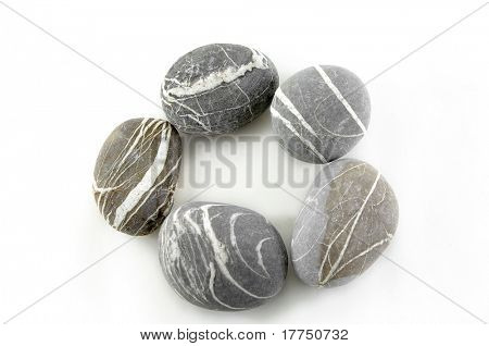 circle, stone on white background