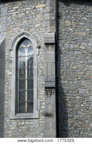 Window, Buttress & Stone Wall