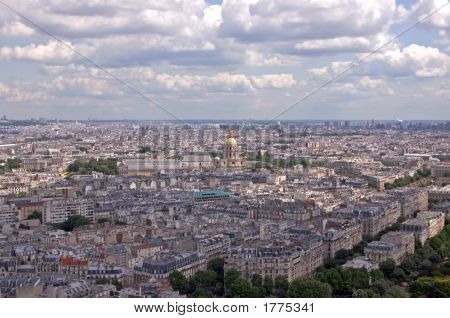 Paris Skyline - Dome Des Invalides