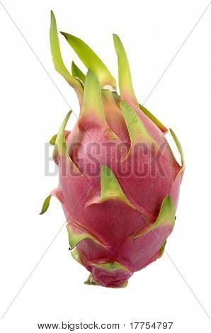 Dragon fruit isolated on white background