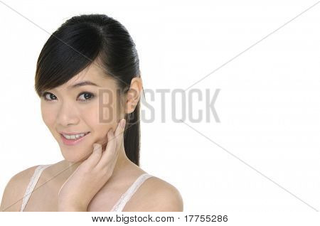 facial massage isolated on white background