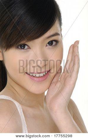 massagem facial, isolada no fundo branco