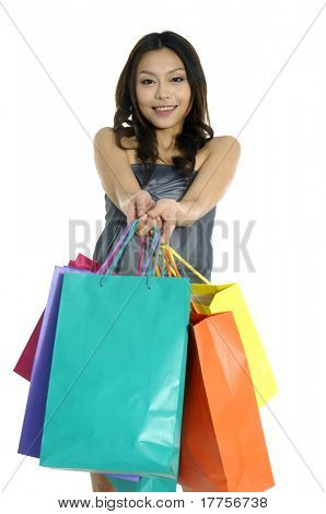 Shopping sexy woman