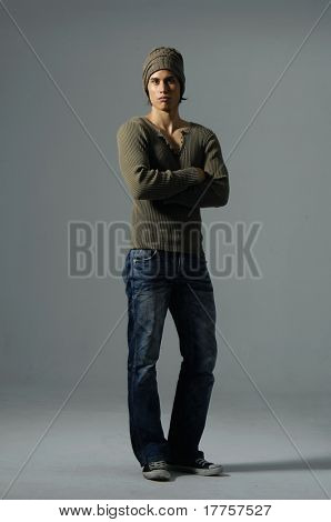 Male model posing shot in studio