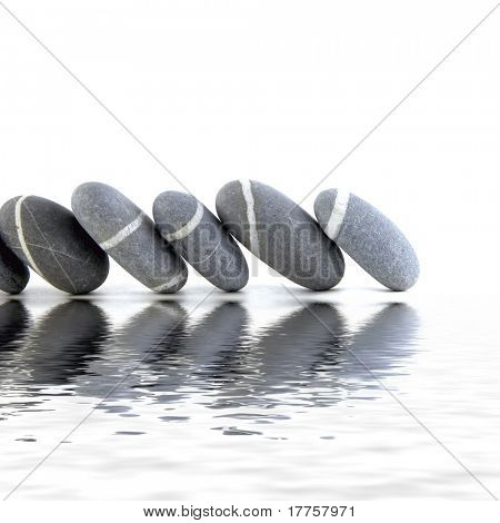 Zen stones with reflection