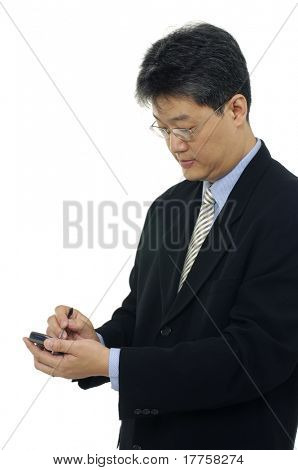 A businessman with PDA