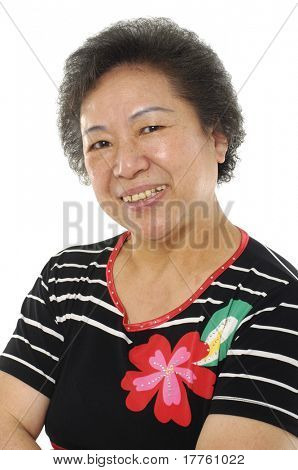 Asian senior lady