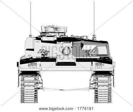 Challenger Main Battle Tank - Front View