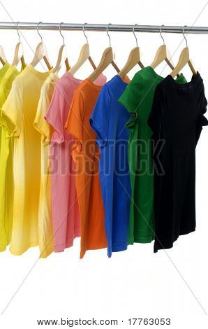 colored Tee Shirts display
