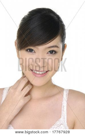 Beautiful face with clean skin