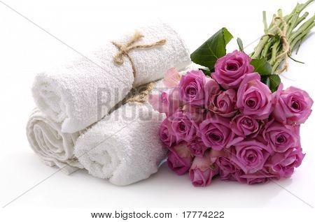 rose flower and spa collection