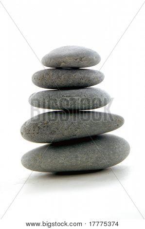 pile of balanced zen stones isolate