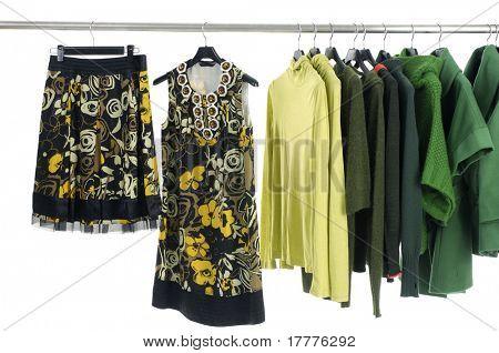 Display de Rack de roupas coloridas