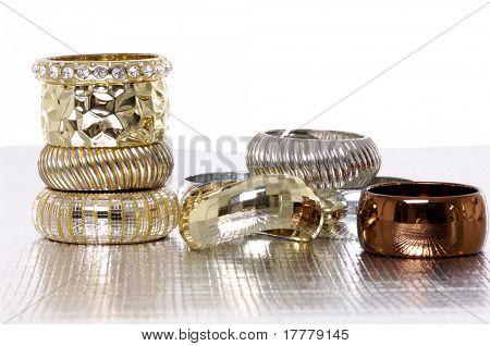 Stack different bracelets
