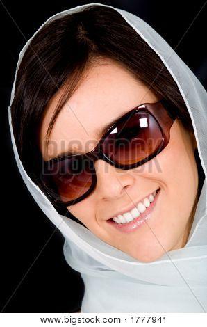 Fashion Woman Portrait With Sunglasses
