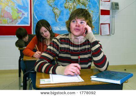 Teen Student In High School Class