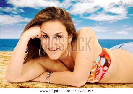 Bikinig Girl Portrait