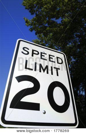 Speed Limit 20 Sign 2