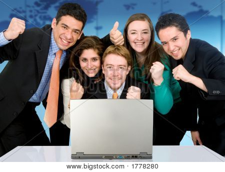 Business Success Team In An Office